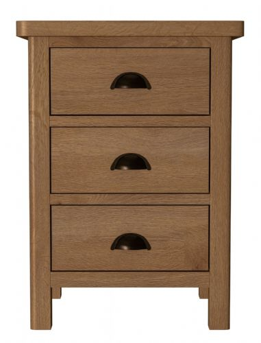 Richmond Rustic Oak Large Bedside Cabinet
